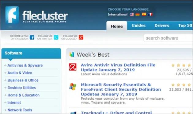 filecluster-software-download-sites