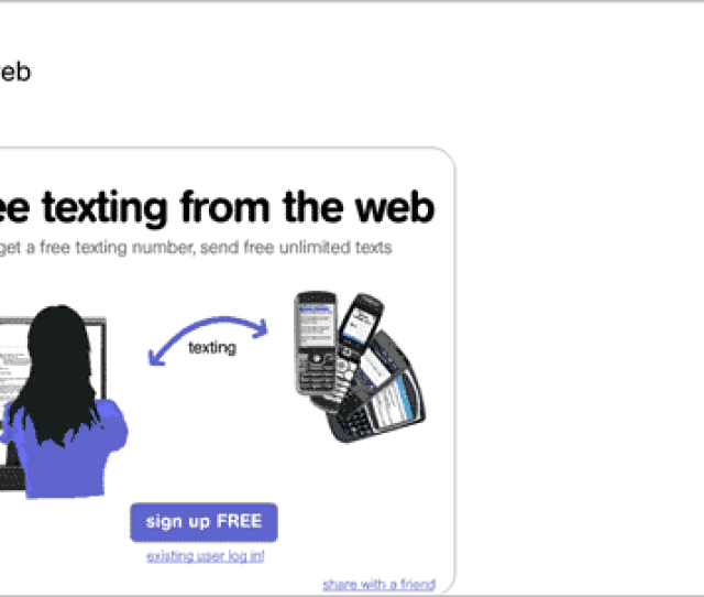 The Pinger Textfree Web Service Lets You Send Texts To Any Phone Number For Free Unlike The Mightytext App However You Dont Get To Keep Your Old Phone