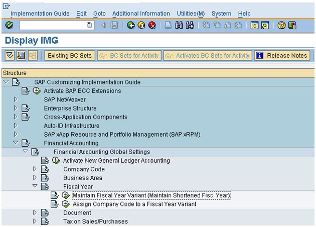 How to do Fiscal Year Variant Change in SAP?