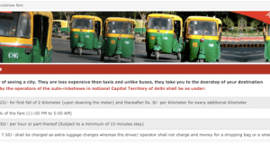 Auto Rickshaw Fare Delhi