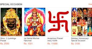 Online Prasad in India