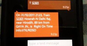 Train Status via SMS