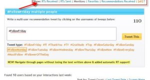 Easily make #FollowFriday recommendations with Follow Friday helper