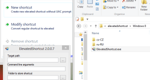 Elevated Shortcuts for Windows 8 Windows 7