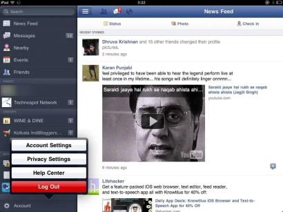 Facebook App for iPad (1)