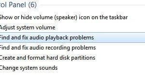Find and Fix Audio Playback Problems in Windows 7