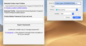 Firefox Export username password