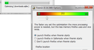 Firemin Optimize Firefox
