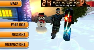 Free Snowboarding Action Game for Android two playing modes