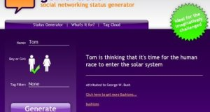 Generate amazing Status Message to use on Chat and Social Networking Sites