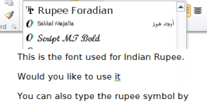 Indian Rupee FontTyping