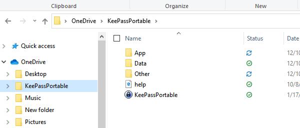 KeePass Portable Application