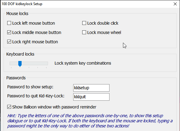 Temporary Lock Keyboard, Mouse while cleaning Windows Computer