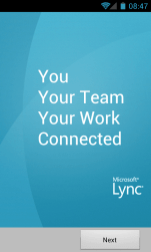 Lync App for Android Login