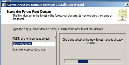 Name of Forest Root Domain