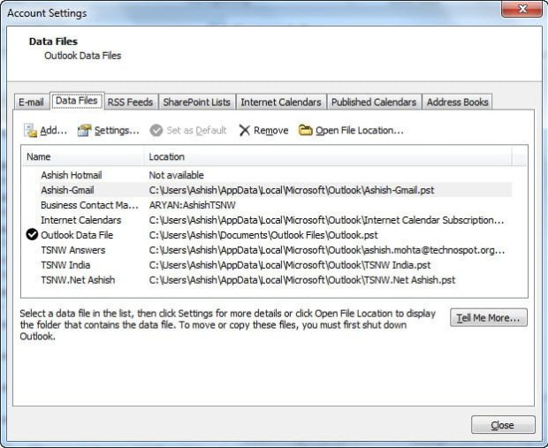 List of Tools to Automatic Backup Outlook PST and OST Files