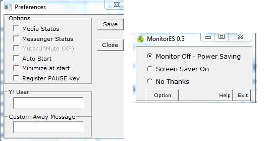 Power saving when computer lock