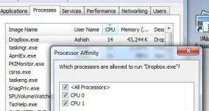 Processor Affinity for CPU usage