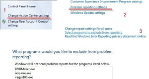 Reporting Problem Exceptions