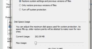 Restore Configuration Windows 7