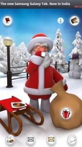 Santa having milk free talking santa app for android