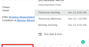 schedule emails gmail later