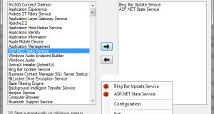 Service Configuration Watch List