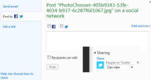 Sharing Skydrive files on Twitter