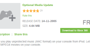 XBox Optional Media Update for AAC and MPEG4