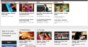 YouTube Carousel