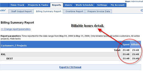 actitime billable