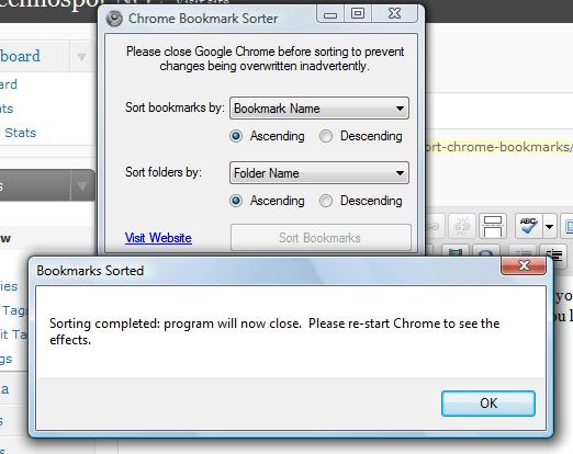 Chrome Bookmarks sorter