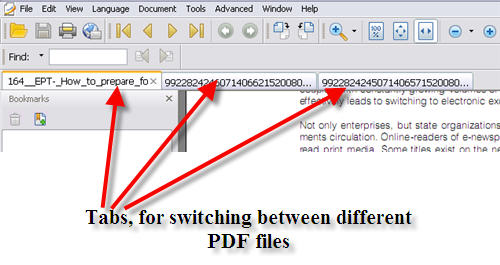 Open Multiple PDF files in Tab