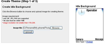 Creating Nokia Theme Selecting Background Picture