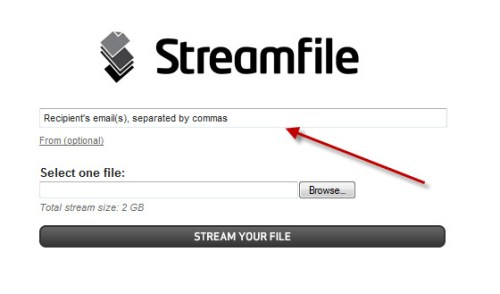 Stream File : Sending large files to multiple people