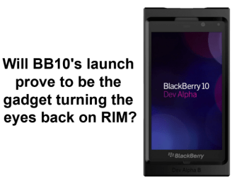 Will BB10's launch prove to be the gadget turning the eyes back on RIM?