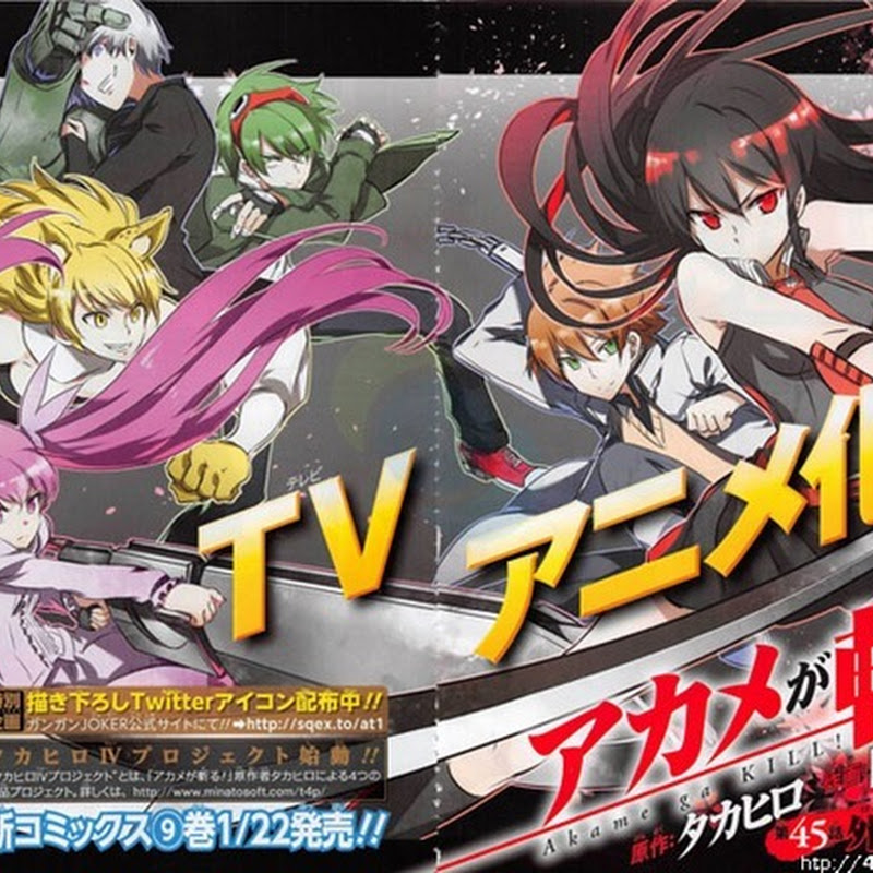"Manga de ""Akame ga KILL!"" tendrá Anime para la Televisión"