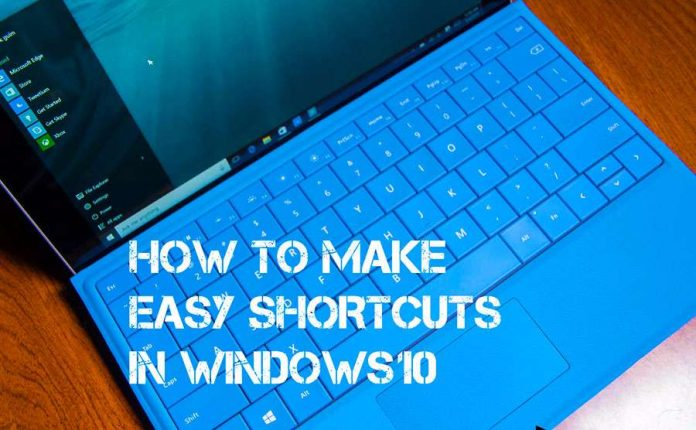 Shortcuts in Windows 10