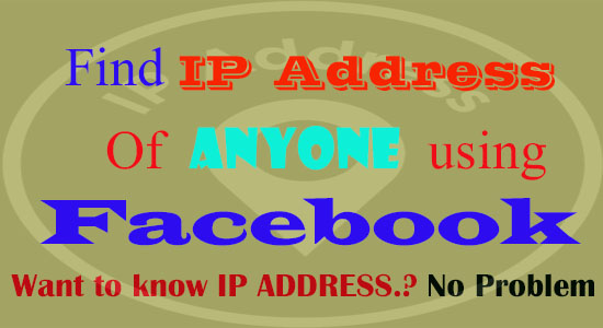 Trace ip address using facebook chat