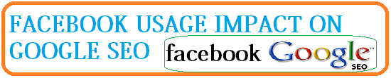 facebook usage impact on google seo