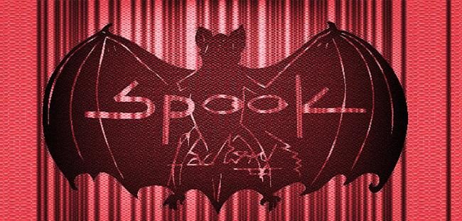 Spook Factory (telilla-negra-Sergio-Merchant-rojo-laser)