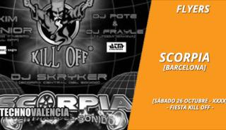 flyers_scorpia_-_26_octubre_xxxx_fiesta_kill_off