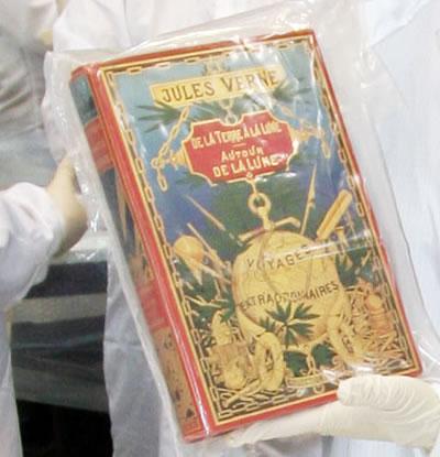 Una còpia del llibre de Verne publicada quan encara era viu.