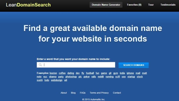 lean Tools for Picking the Perfect Domain Name