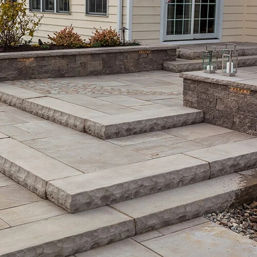 Stone Steps Techo Bloc | Concrete Stairs Design Outdoor | Beautiful | Roof Deck | Storage Underneath | Exterior | Modern