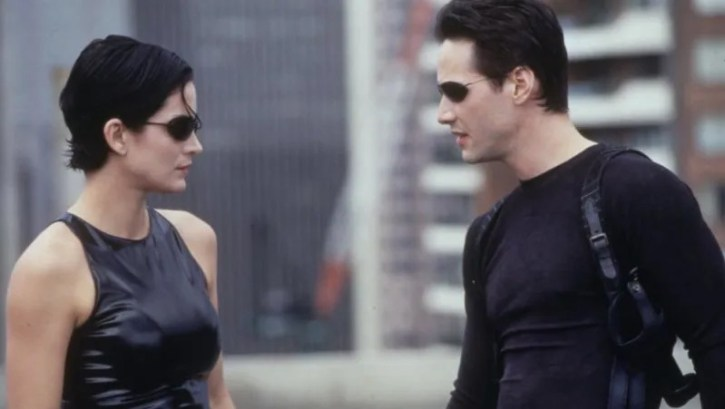 Keanu Reeves and Carrie Anne-Moss The Matrix 4