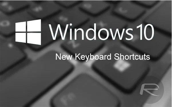 list of keyboard shortcuts for Windows 10