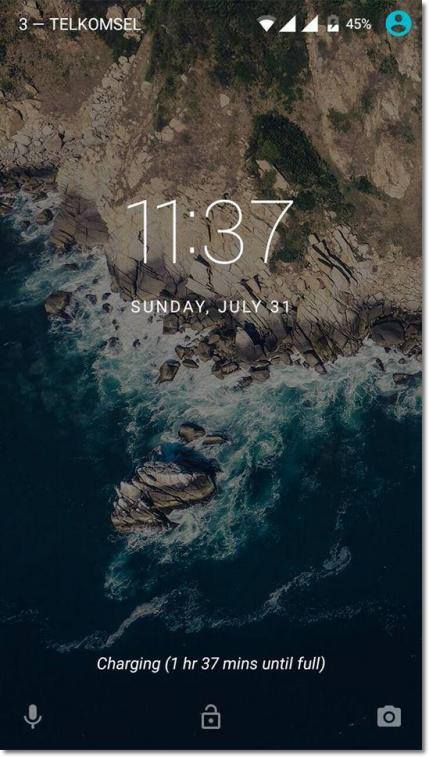lenovo a7000 lock screen