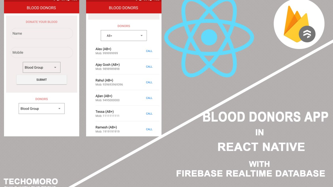 How to Create a Simple Blood Donors App in React Native with