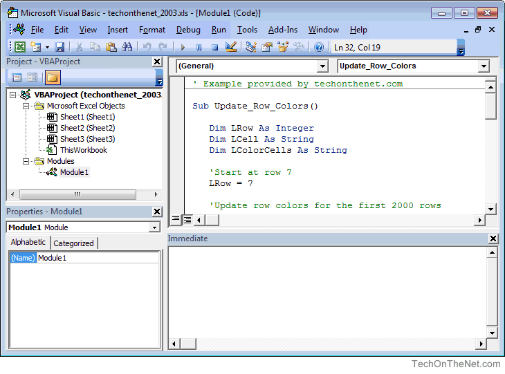 Ms Excel Open The Visual Basic Editor